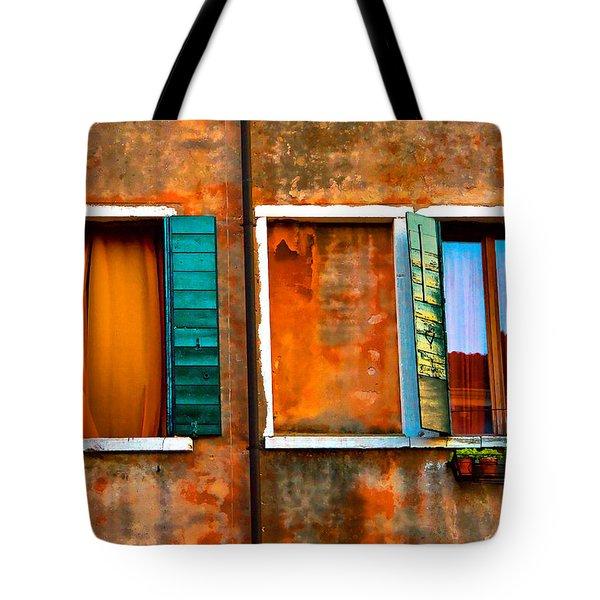 Three Windows Tote Bag