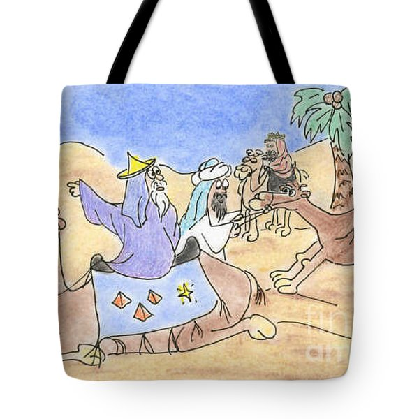 Three Wisemen Tote Bag by Vonda Lawson-Rosa