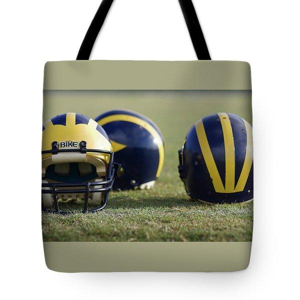 Three Wolverine Helmets Tote Bag