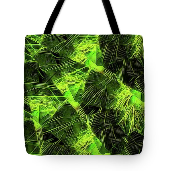 Threshed Green Tote Bag by Ron Bissett