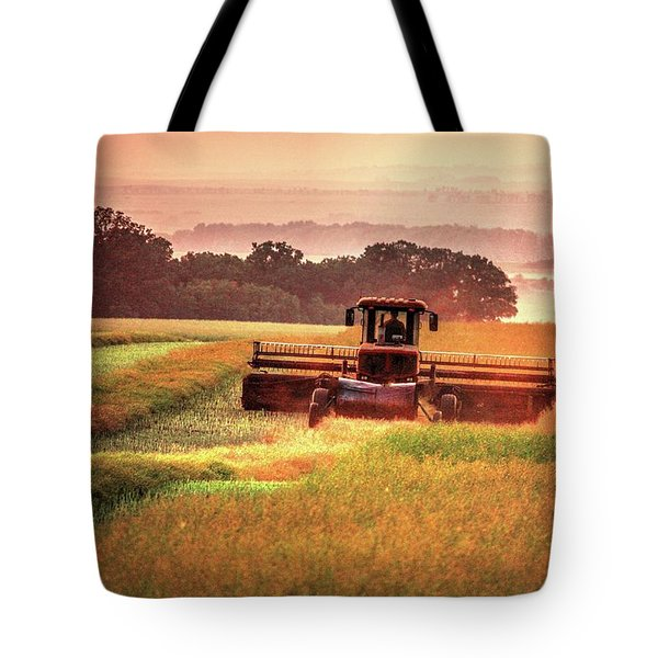 Swathing On The Hill Tote Bag