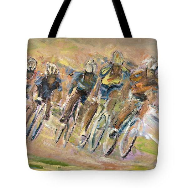 Thrill Of The Chase Tote Bag by Jude Lobe