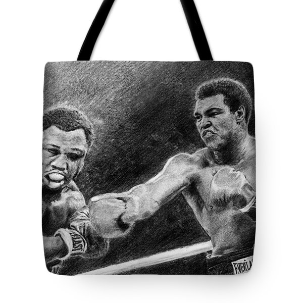 Thrilla In Manilla Pencil Drawing Tote Bag
