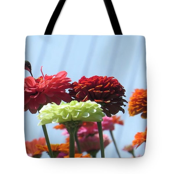 Tote Bag featuring the photograph Thristy Hummer by Jeanette Oberholtzer
