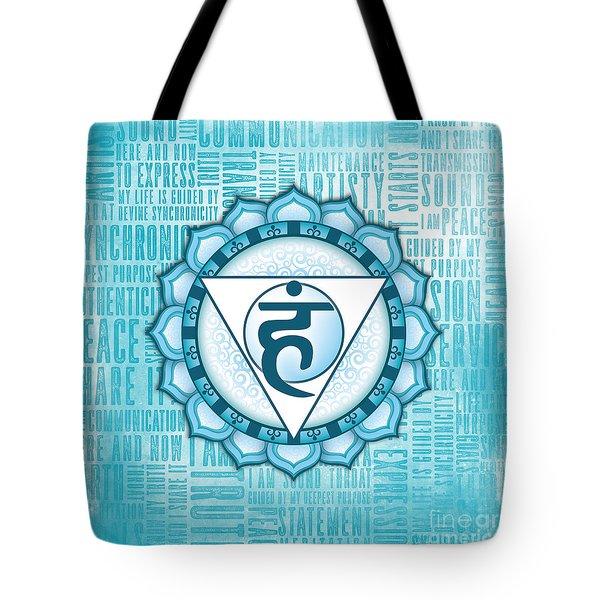 Throat Chakra - Awareness Tote Bag by David Weingaertner