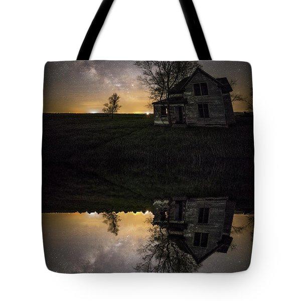 Through A Mirror Darkly  Tote Bag by Aaron J Groen