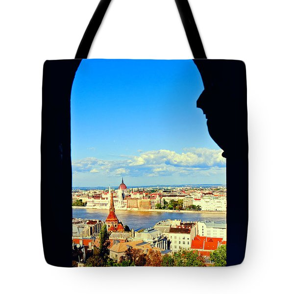 Through An Arch In Budapest Tote Bag by Madeline Ellis
