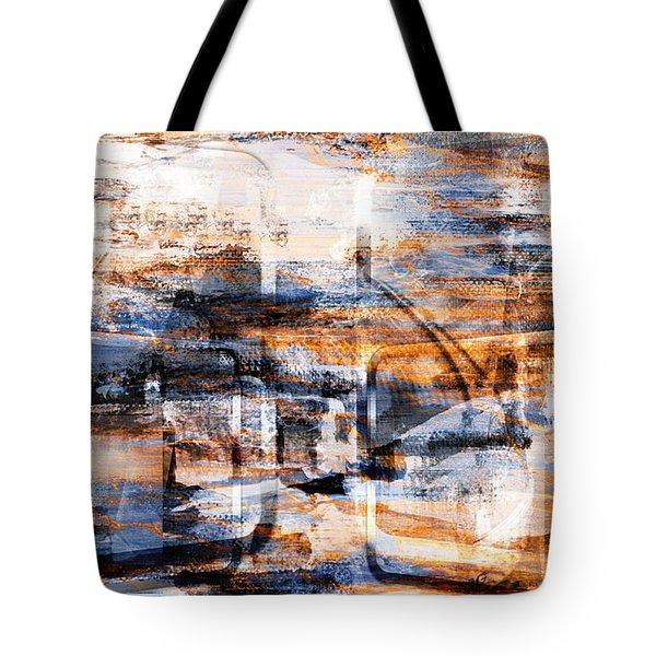 Tote Bag featuring the digital art Through An Open Window.. by Art Di