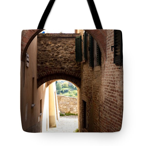 Through The Alleys Tote Bag by Rae Tucker