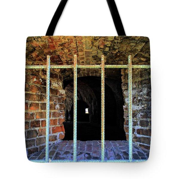 Through The Bars Tote Bag