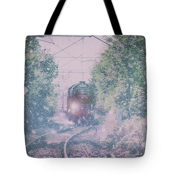 Through The Blizzard Tote Bag