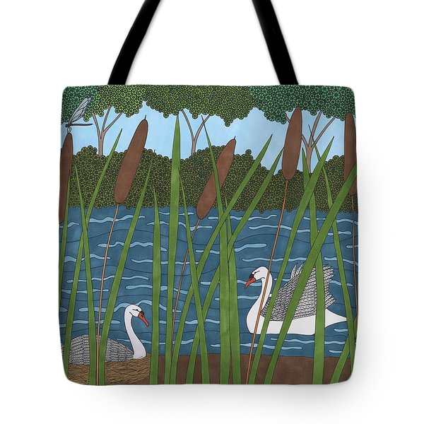 Through The Cattails Tote Bag