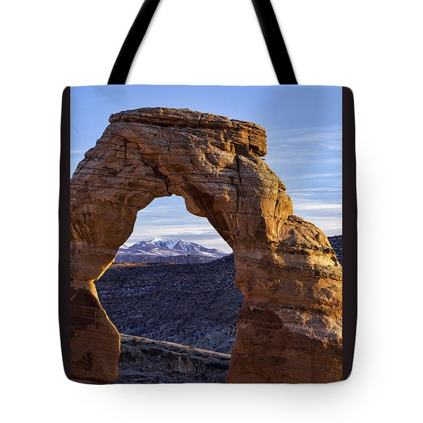 Through The Delicate Arch Tote Bag