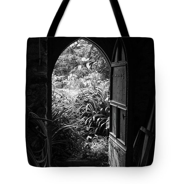 Tote Bag featuring the photograph Through The Door by Clare Bambers