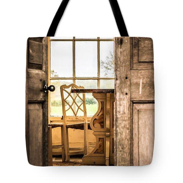 Through The Door Tote Bag by David Warrington
