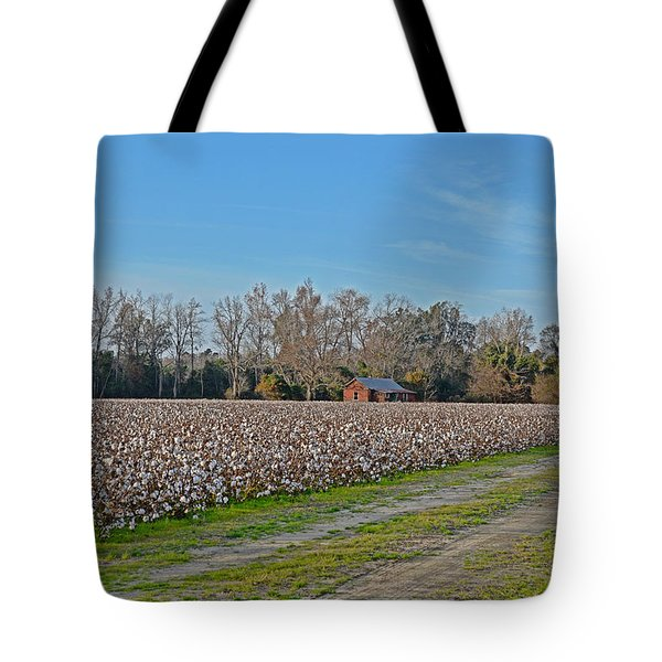 Through The Field Tote Bag by Linda Brown