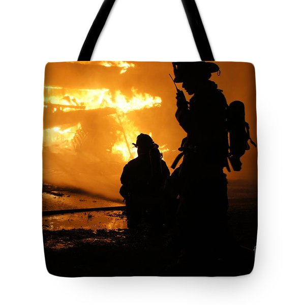 Through The Flames Tote Bag