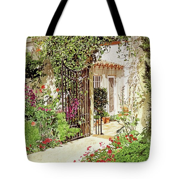 Through The Garden Gate Tote Bag