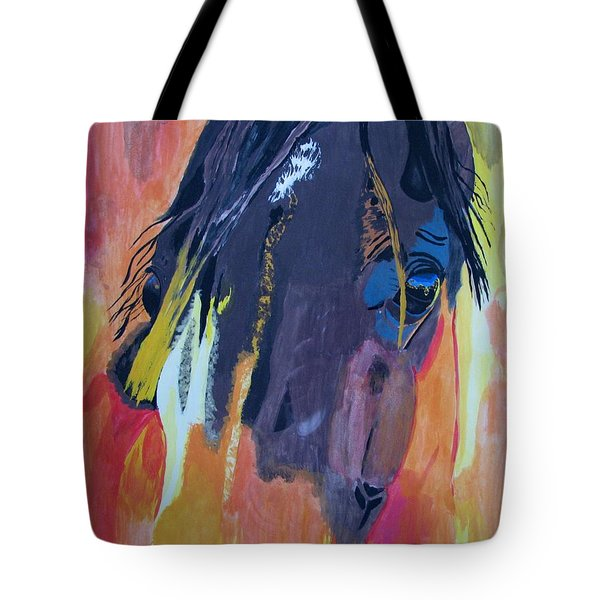 Through The Horse's Eyes Tote Bag