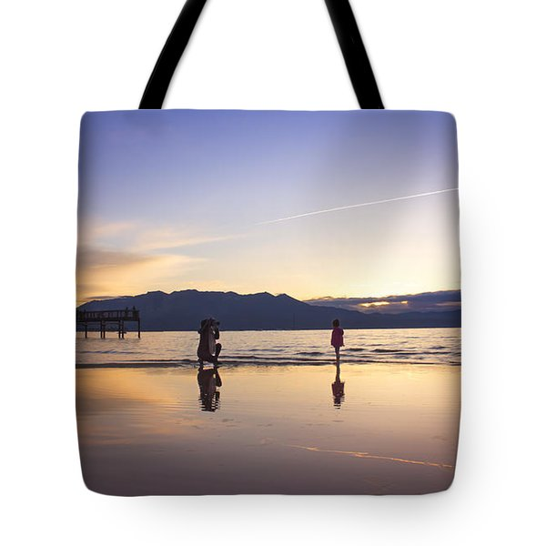 Through The Lens Of A Mother Tote Bag