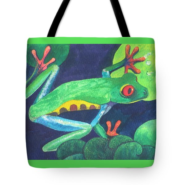 Through The Lily Pads. Tote Bag