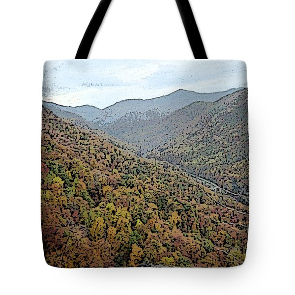 Tote Bag featuring the photograph Through The Mountains by Skyler Tipton
