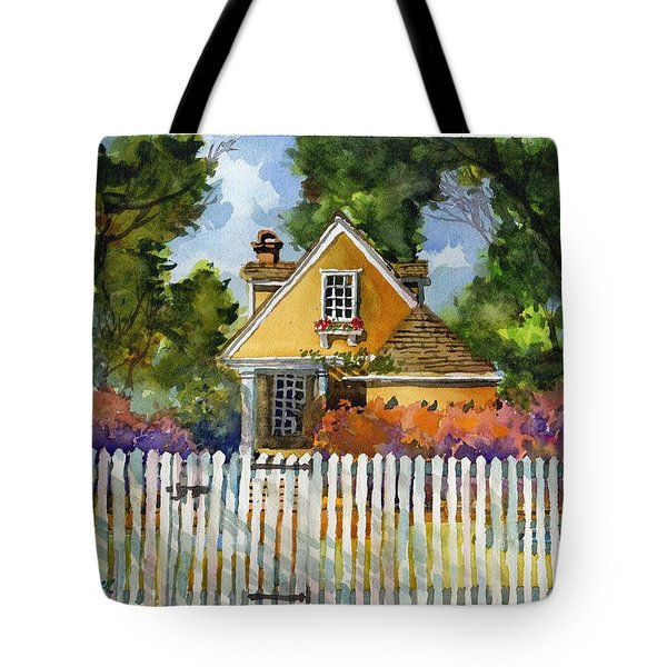 Through The Pickets Tote Bag