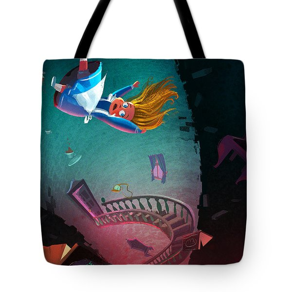Through The Rabbit Hole Tote Bag
