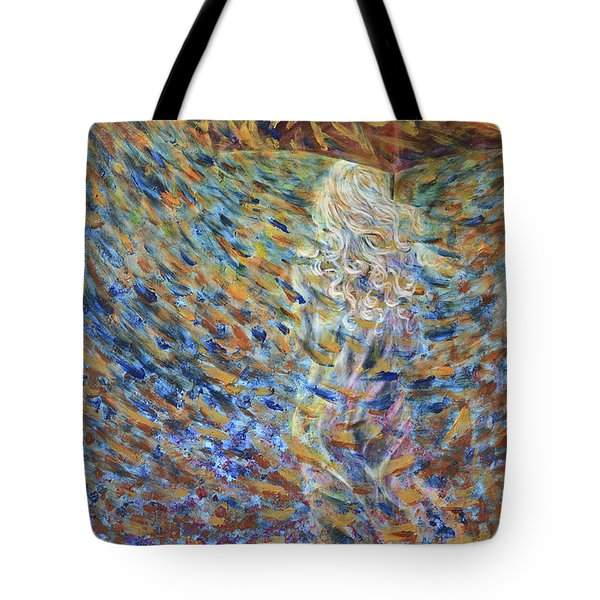 Tote Bag featuring the painting Through The Rain by Nik Helbig