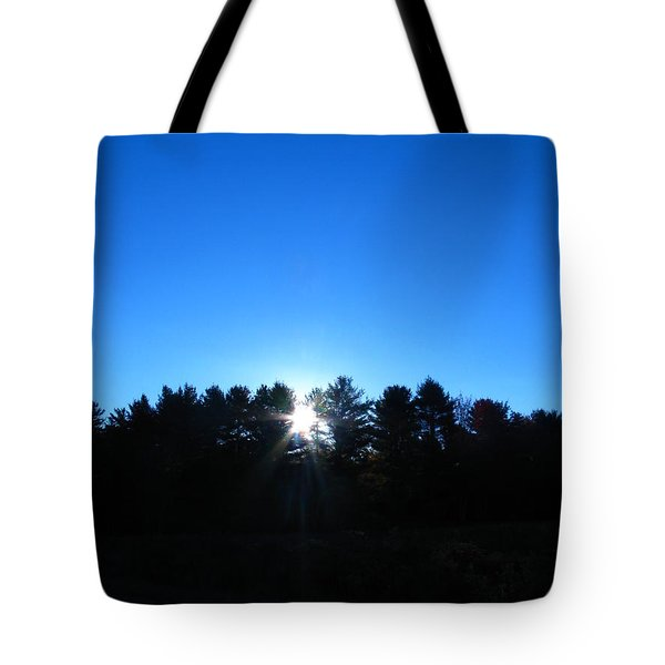 Through The Trees Brightly Tote Bag