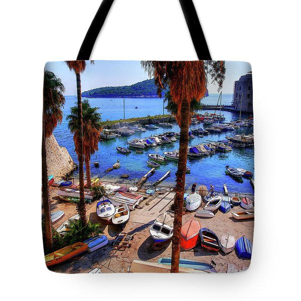 Through The Trees Dubrovnik Harbour Tote Bag