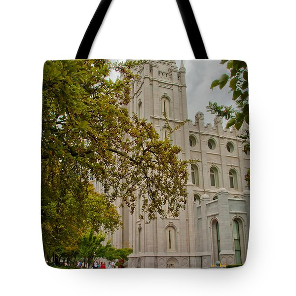 Through The Trees Tote Bag by La Rae  Roberts