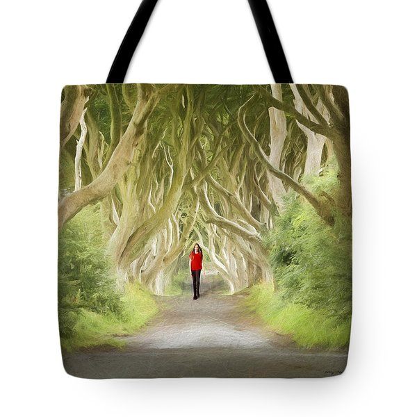 Tote Bag featuring the photograph Through The Trees by Roy  McPeak