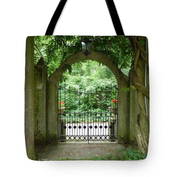 Through The Tuscan Gate Tote Bag