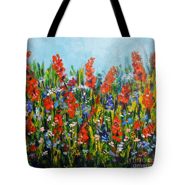 Through The Wild Flowers Tote Bag