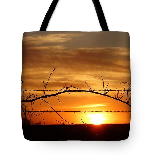 Through The Wire Tote Bag by J L Zarek