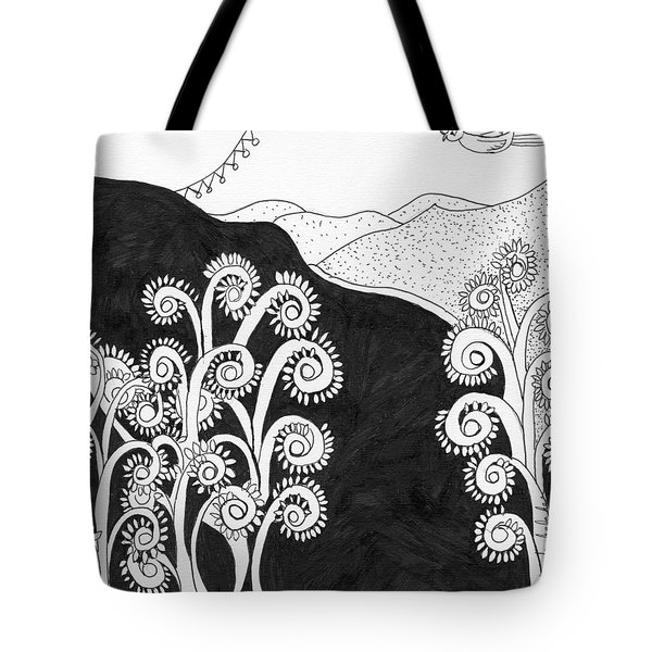 Tote Bag featuring the painting Through The Woods by Lou Belcher