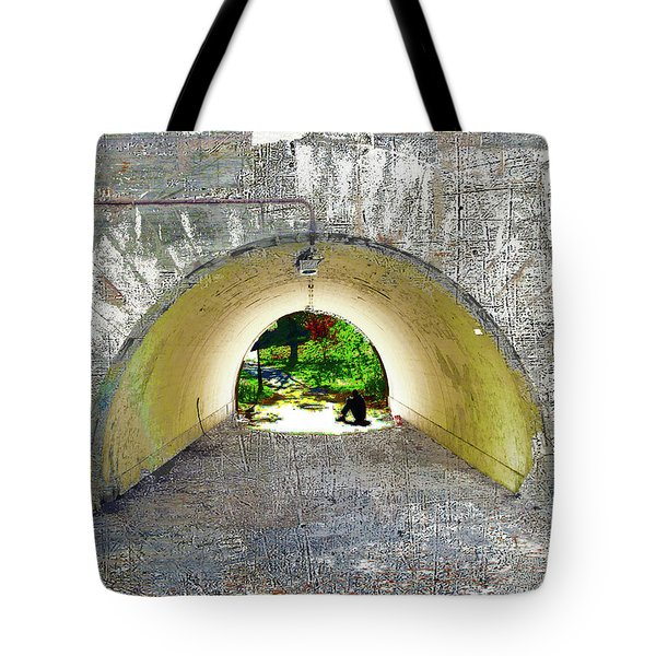 Tote Bag featuring the mixed media Through by Tony Rubino
