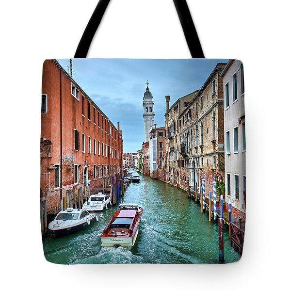 Through Venetian Canals Tote Bag