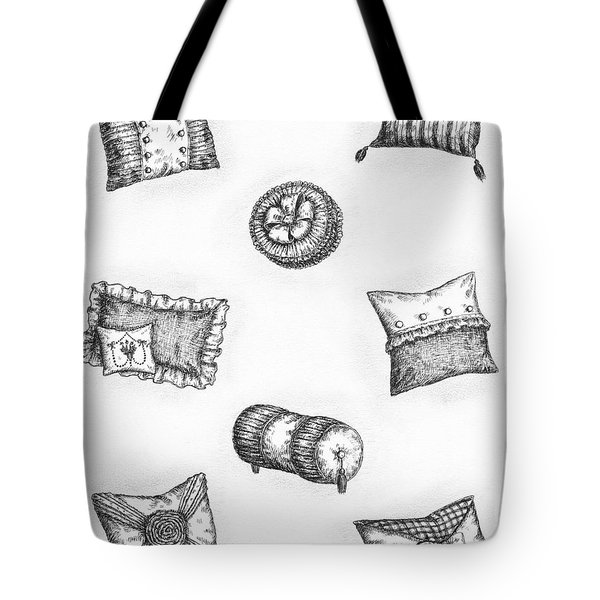 Throw Pillows Tote Bag by Adam Zebediah Joseph