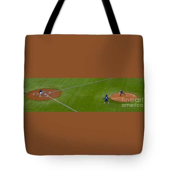Throwing The First Pitch Tote Bag