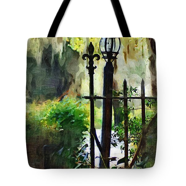 Tote Bag featuring the digital art Thru The Gate by Donna Bentley