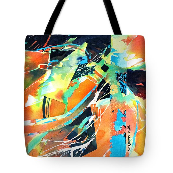 Tote Bag featuring the painting Thrust by Rae Andrews