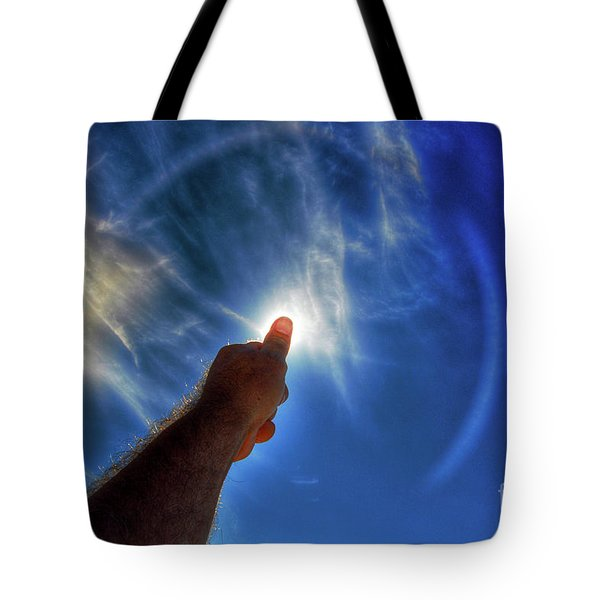 Thumb To The Sky Tote Bag