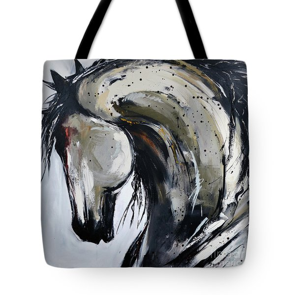 Tote Bag featuring the painting Thunder And Lightning by Cher Devereaux
