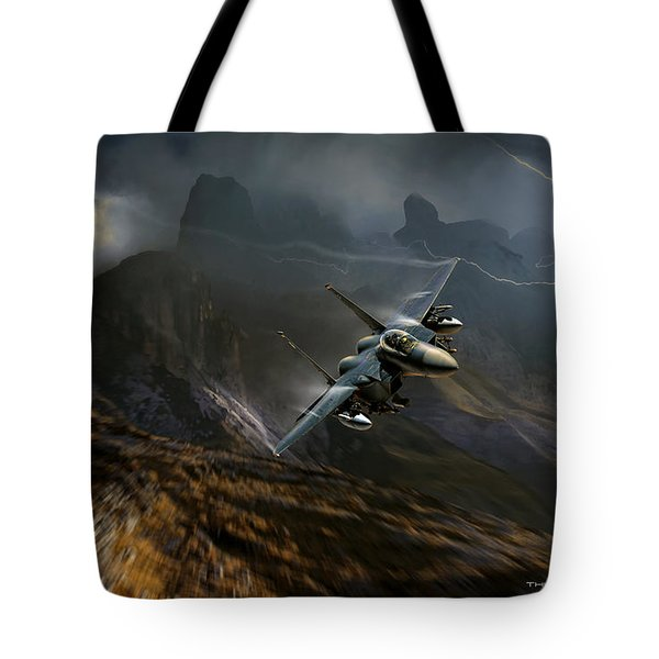 Thunder And Lightning Tote Bag
