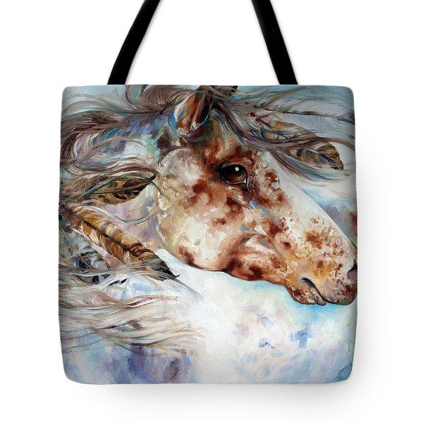 Thunder Appaloosa Indian War Horse Tote Bag