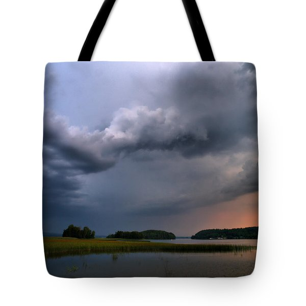 Tote Bag featuring the photograph Thunder At Siuro by Jouko Lehto