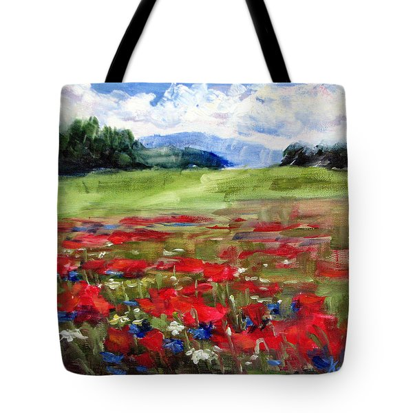 Thunder Clouds Over Bavarian Meadow Tote Bag