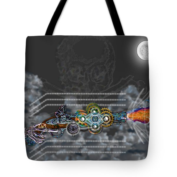 Thunder Gun Of The Dead Tote Bag by Iowan Stone-Flowers